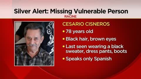 78-year-old Racine man missing